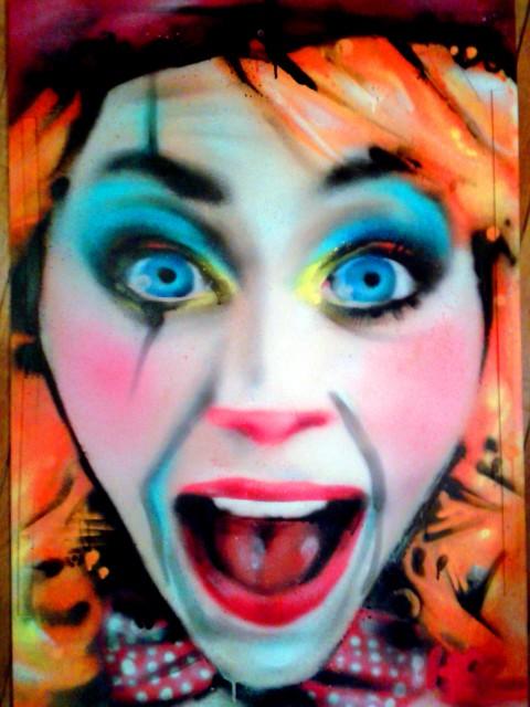 Portrait graffiti sur toile