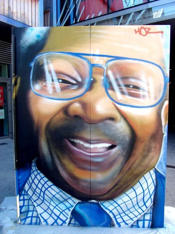 Graffiti hommage à B.B. King par HOZ