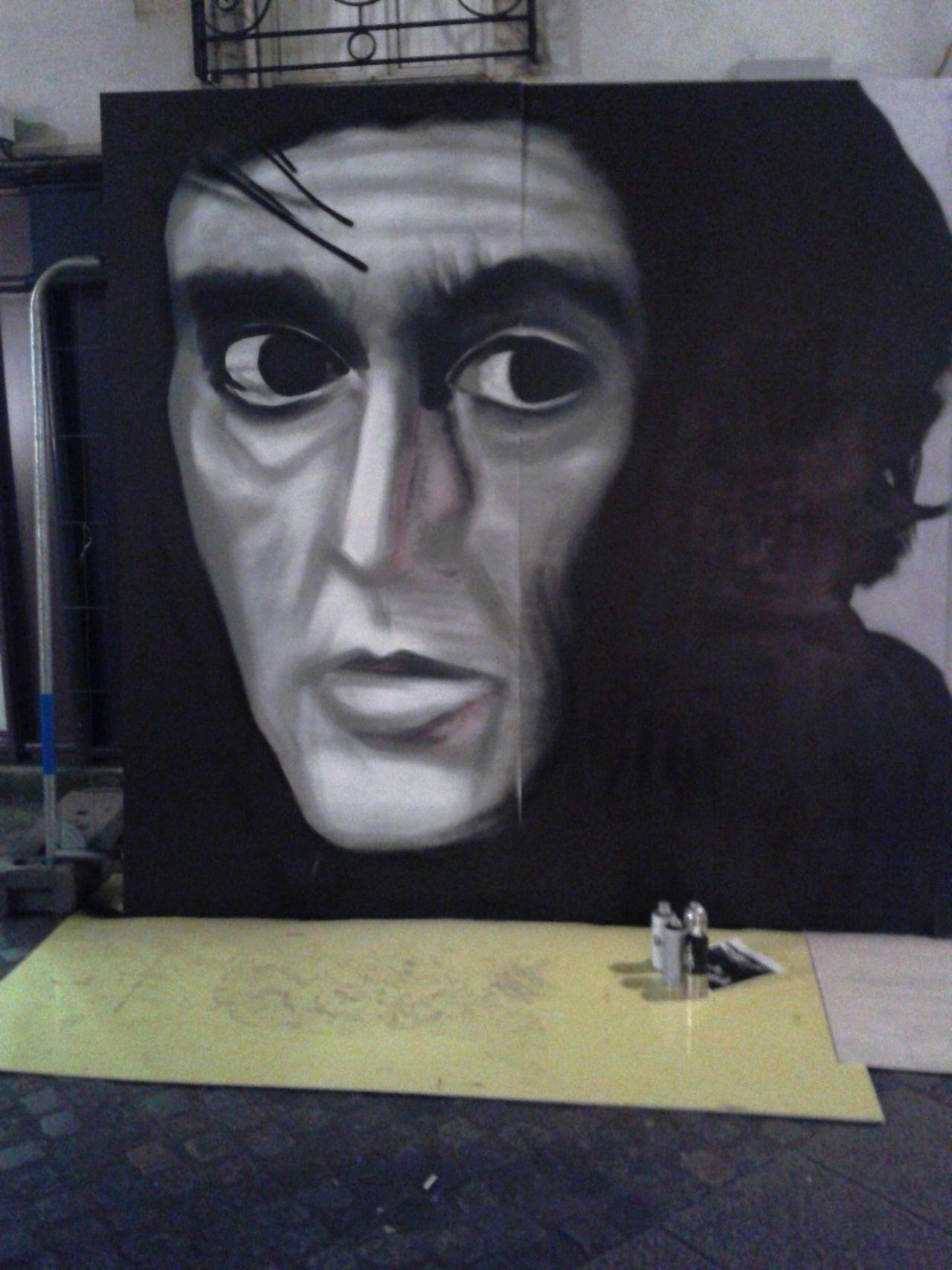 Fresque graffiti Be Kool à Quimper