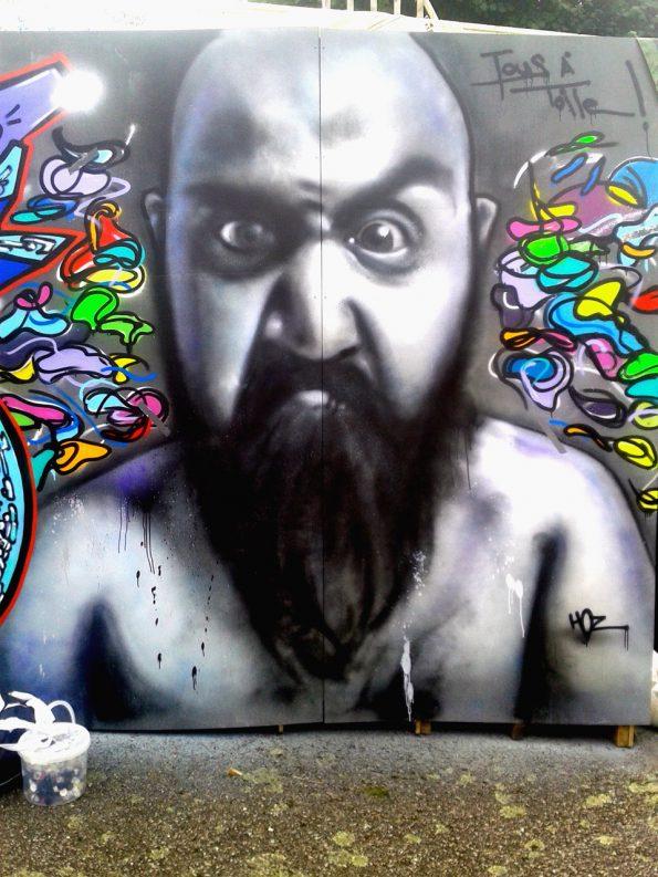 Portrait graffiti à Pont-Aven
