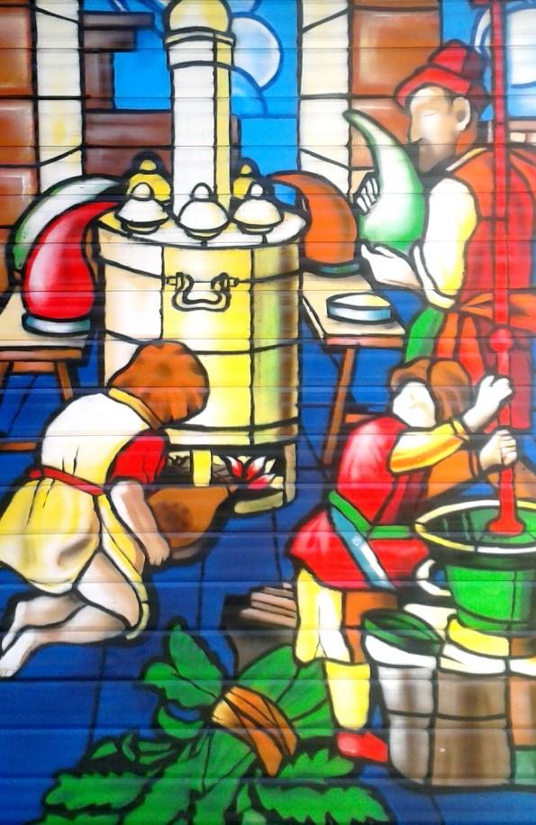 Graffiti décoration vitrail Quimper