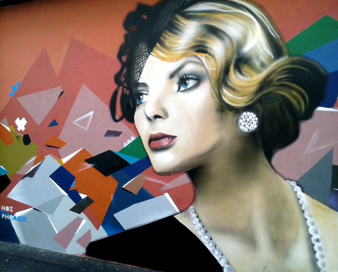 Décoration graffiti pour l'hôtel Kregenn à Quimper