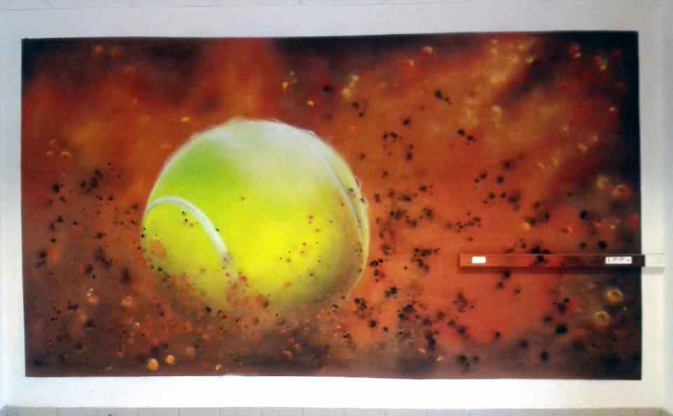 Décoration Graffiti Tennis Club Plomelin
