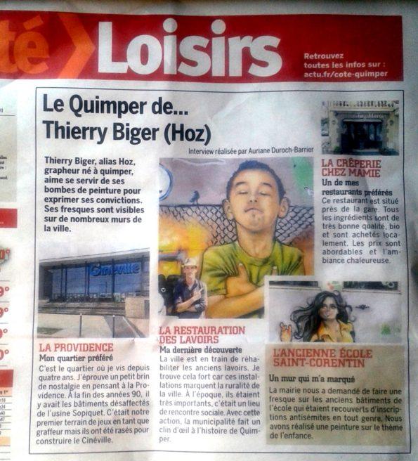 Interview Côté Quimper Juin 2017