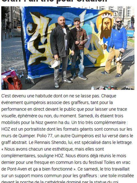 Graffiti Noz Gwenn Ha DU Quimper 2017