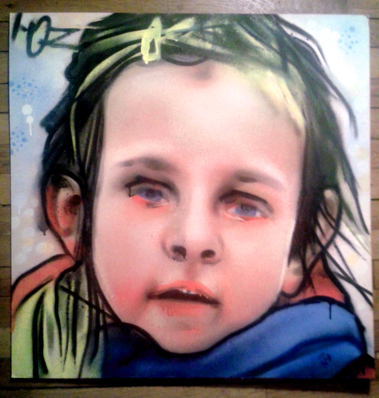 Portrait graffiti de Juliette