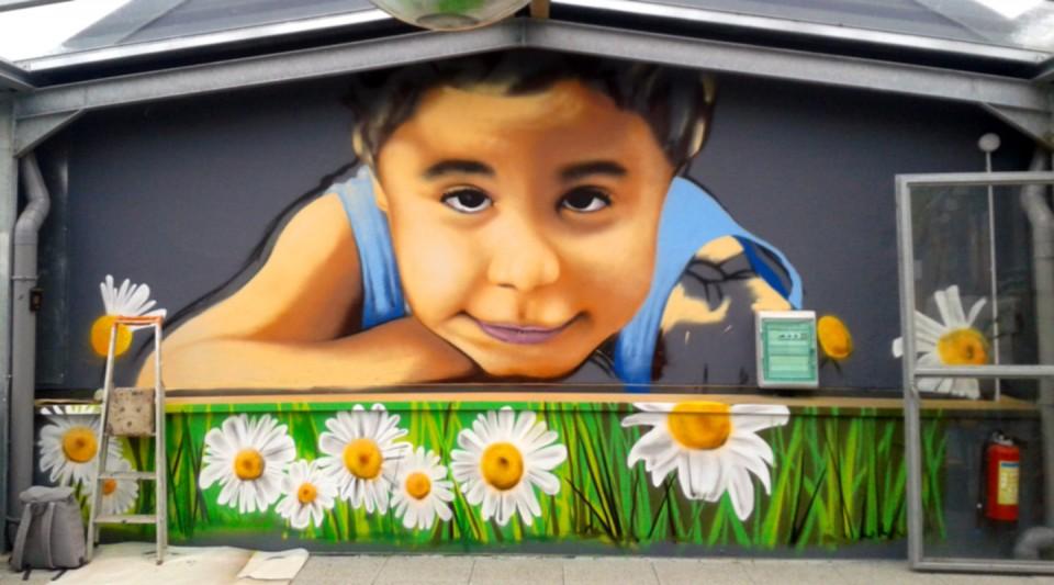 Fresque murale l 39 ehpad t rondeau de quimper hoz for Decoration murale quimper