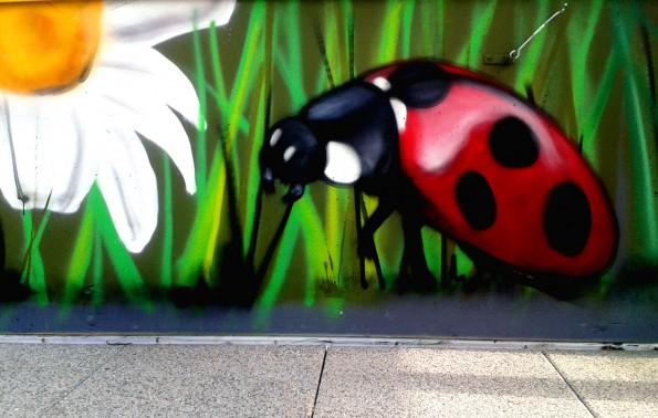Décoration graffiti maison de retraite à Quimper