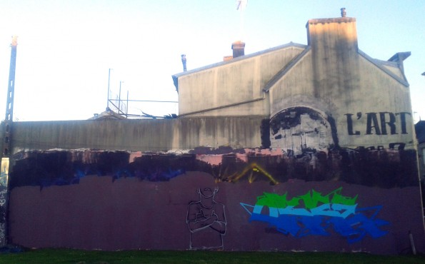 Fresque graffiti Quimper Providence