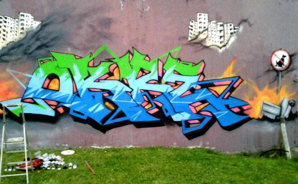 Fresque Graffiti Quimper Providence Mai 2017