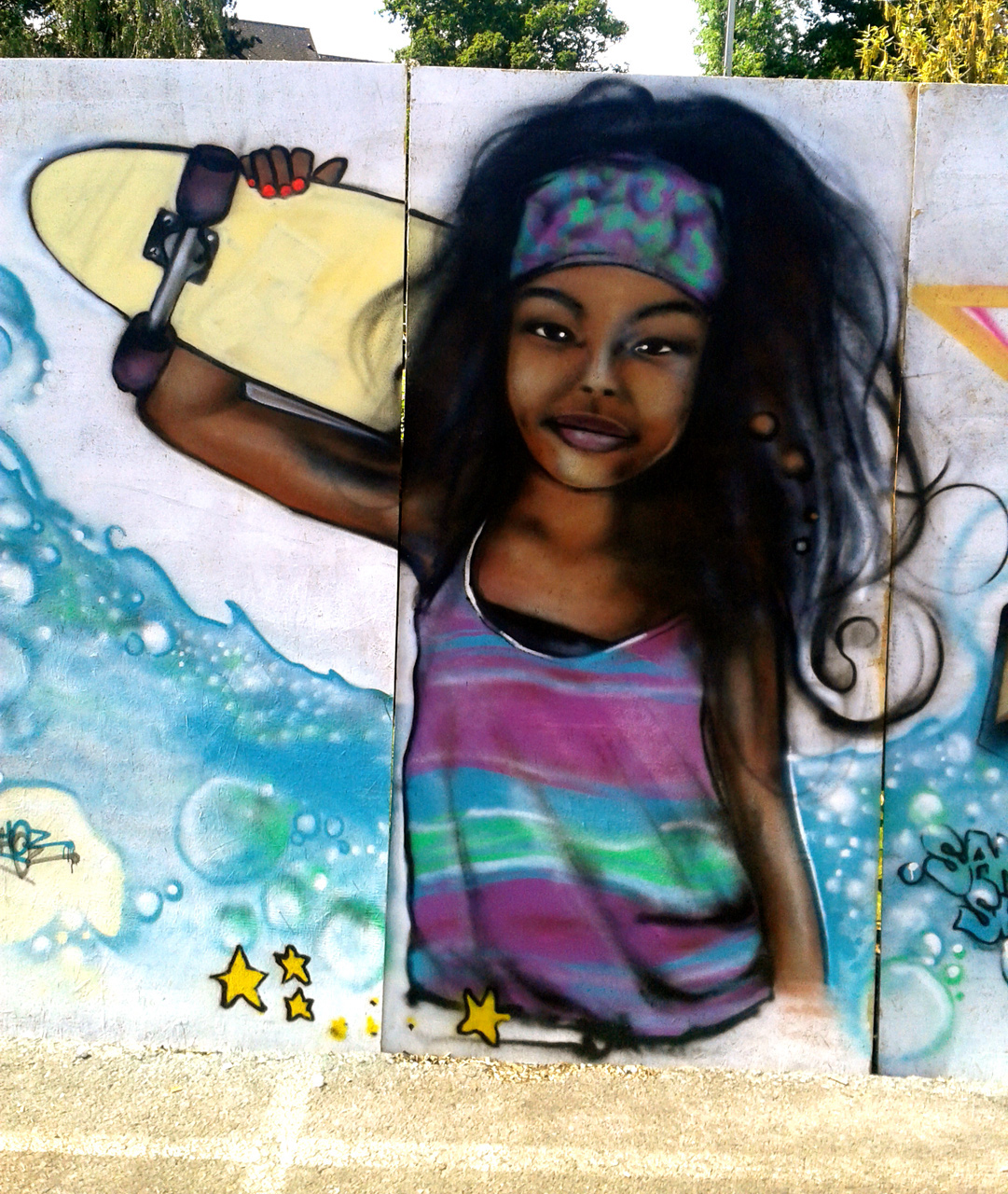 Fresque Graffiti Skate Park Quimper