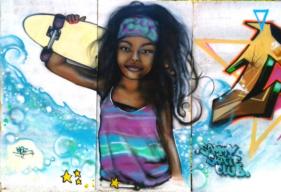 Fresque Graffiti Pour Le Sammy Skate Contest à Quimper