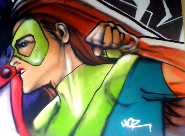 Performance graffiti Glazik Soundball #5 à Briec