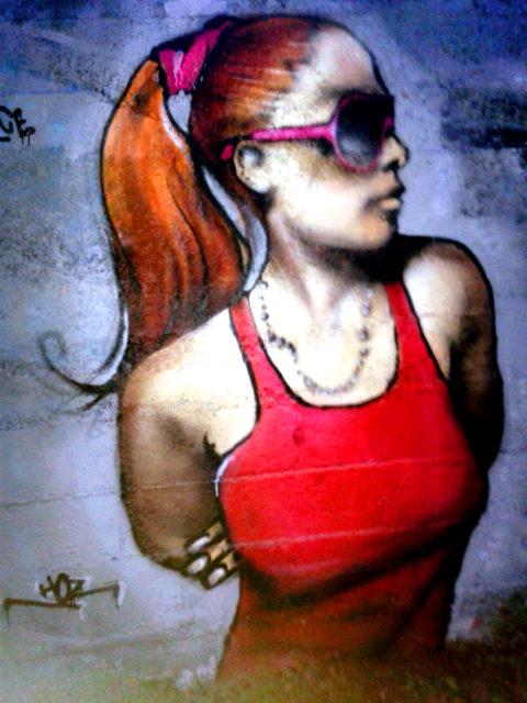 Portrait graffiti Shendo's Meeting à Rennes. Par HOZ. Nov 2017