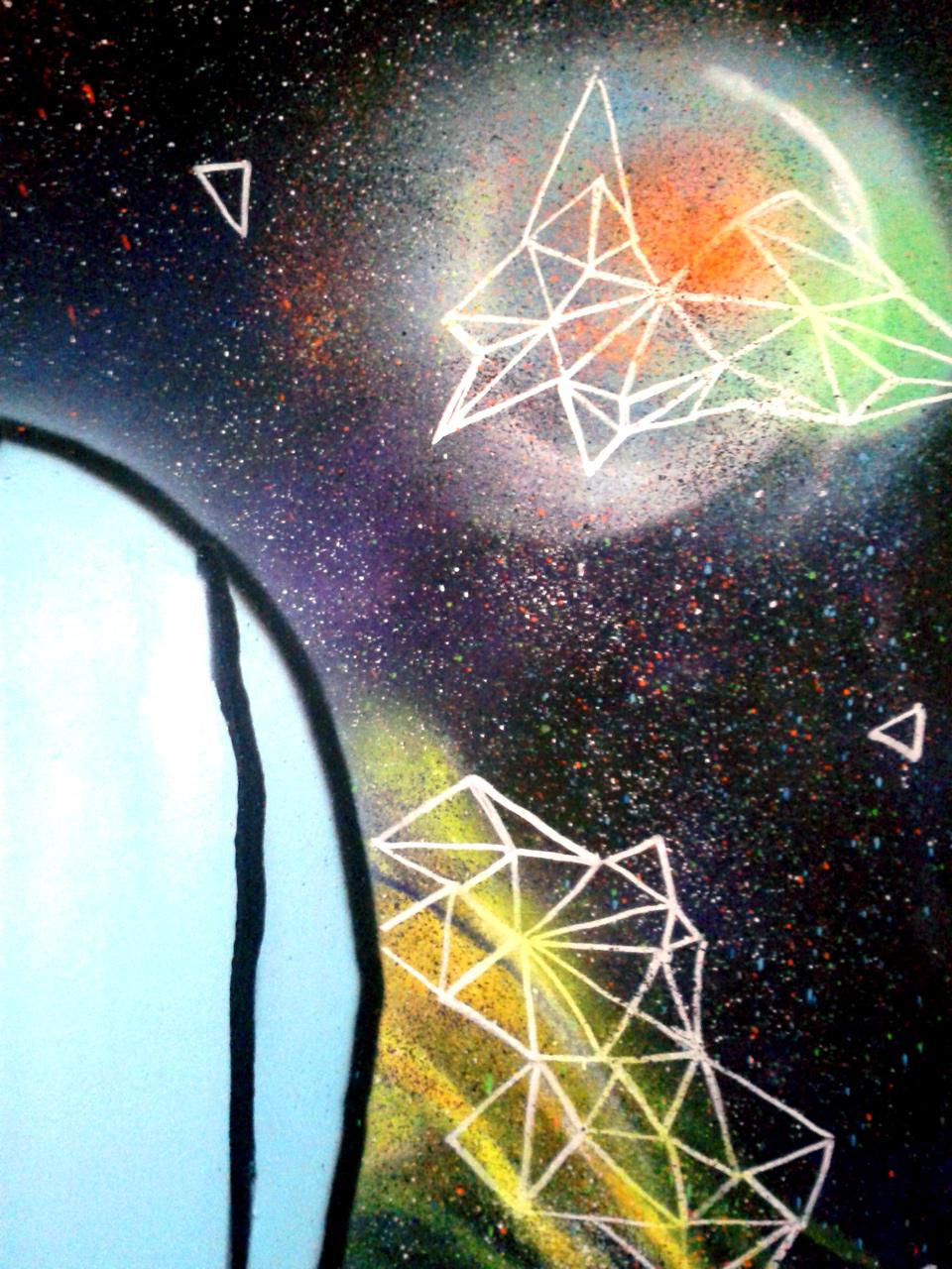 Fresque Graffiti Voyages Insolites Quimper. Sept 2017.