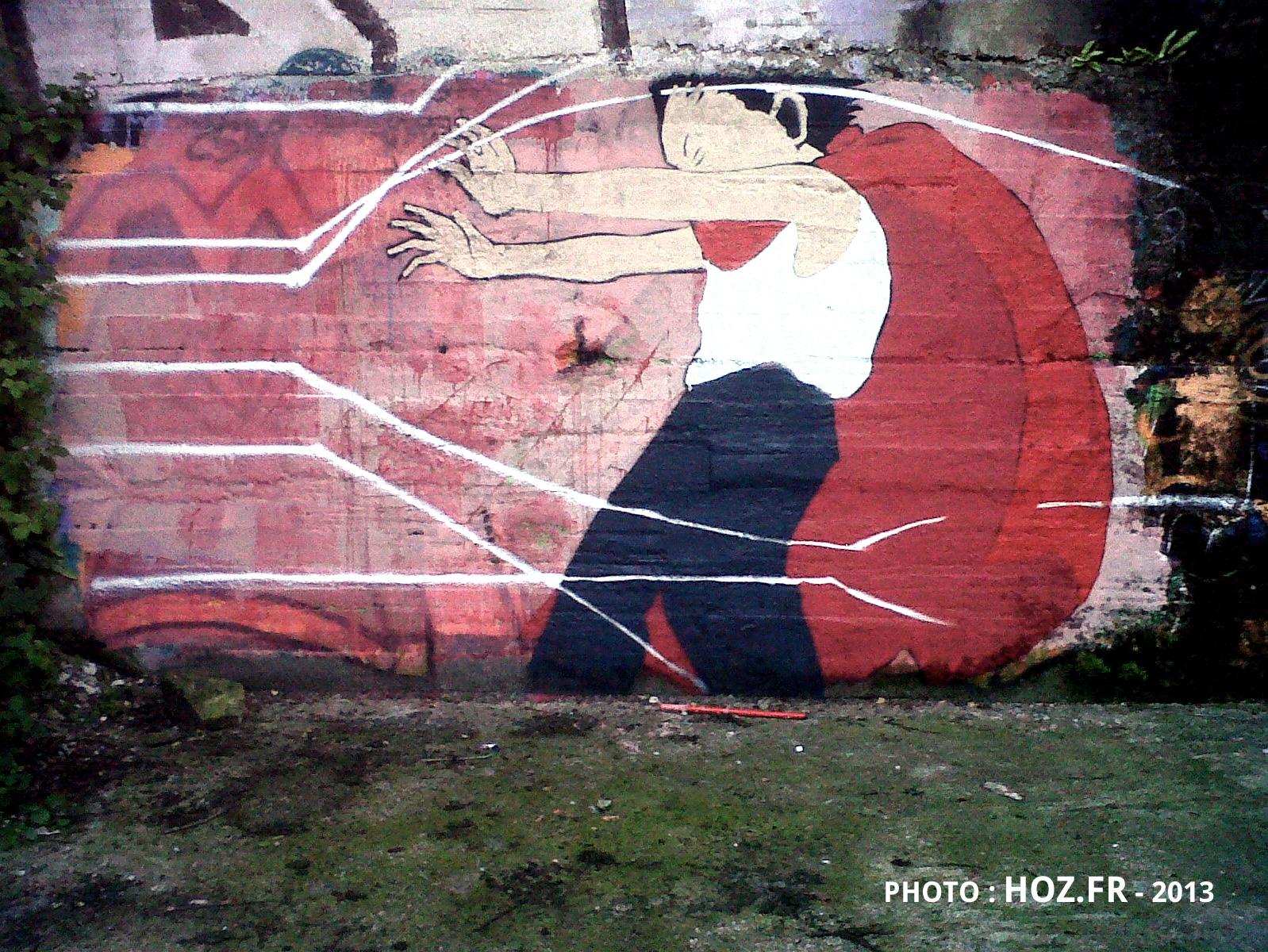 Fresque graffiti AKIRA à Quimper