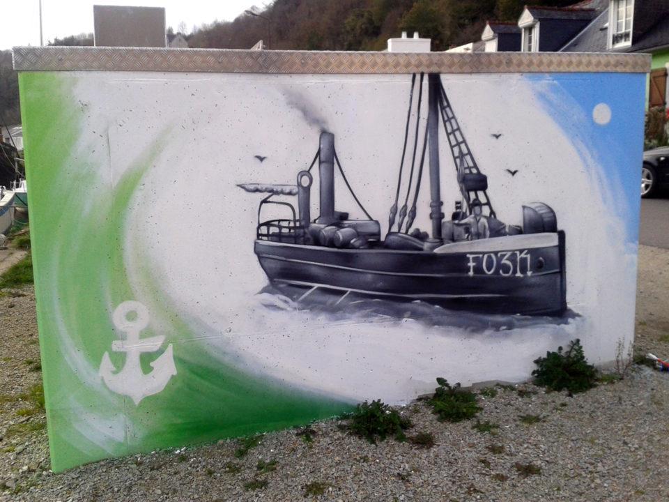 Fresque Décoration Graffiti à Port-Launay