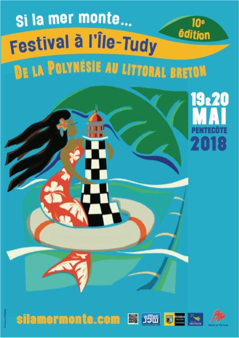 "Performance Graffiti ""Si La Mer Monte"" à L'Île-Tudy. Mai 2018."