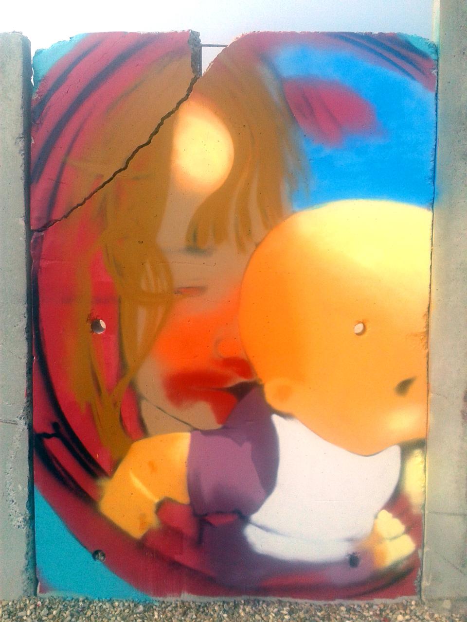 Portrait graffiti d'Alice par HOZ. Juin 2018