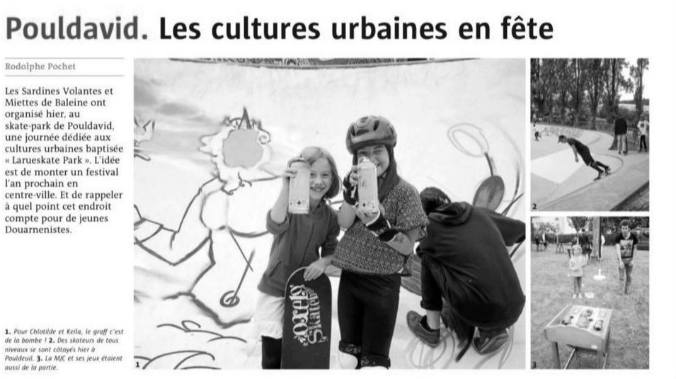 Article de presse. Atelier graffiti à Douarnenez (29)