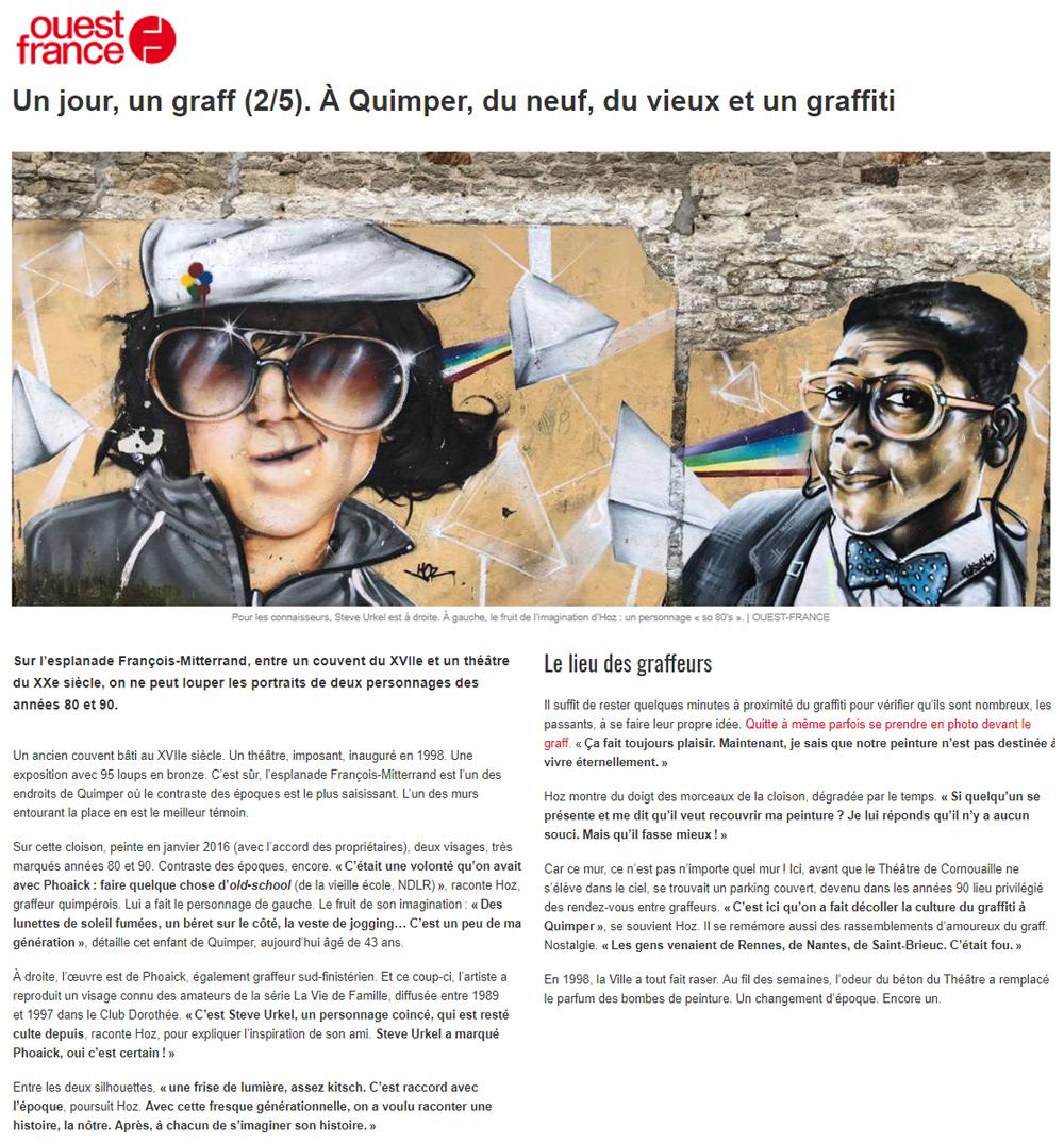Ouest-France Quimper 6 août 2018