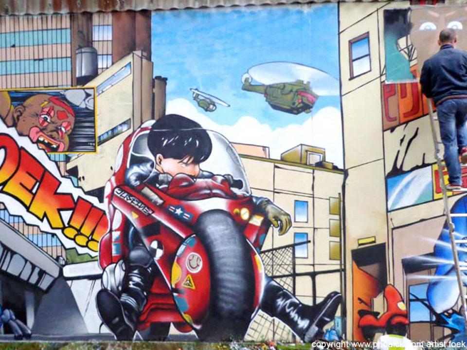 Fresque Graffiti AKIRA à Quimper - Juillet 2013