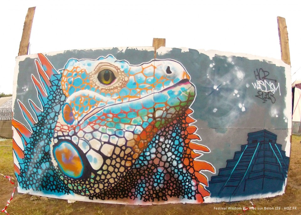 Performance Graffiti Pour Le Festival Wisdom