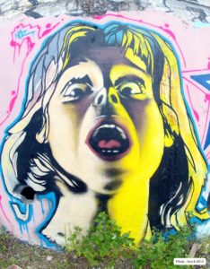 Portrait graffiti «Halloween» par HOZ – 2014