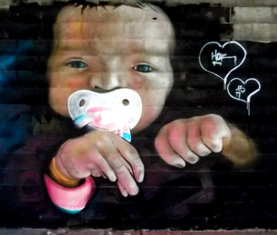 Portrait Graffiti D'Alice