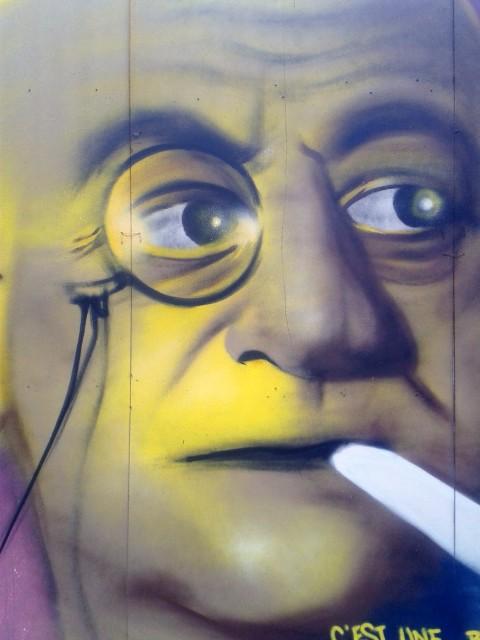 Portrait graffiti de Max Jacob