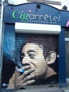 Hommage graffiti à Serge Gainsbourg