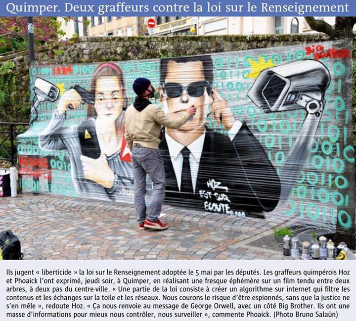 Graffiti Loi Renseignement Quimper