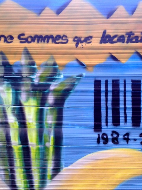 Fresque graffiti « Brevetage du vivant »