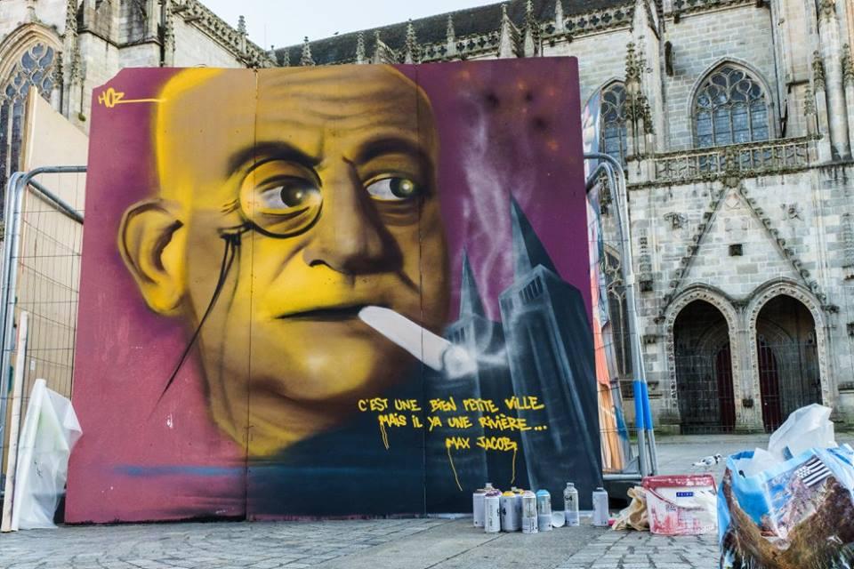 Hommeage Graffiti à Max Jacob Par HOZ