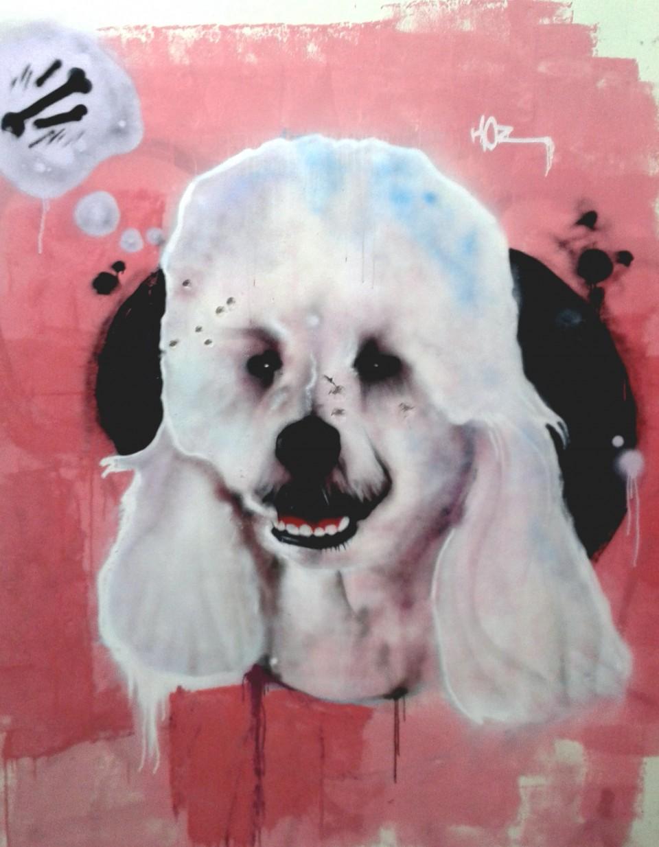 Graffiti Pimp My Caniche