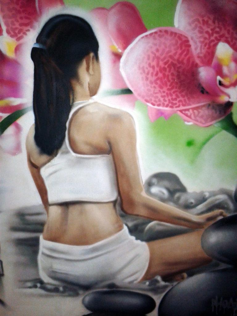 Fresque décoration graffiti à Douarnenez