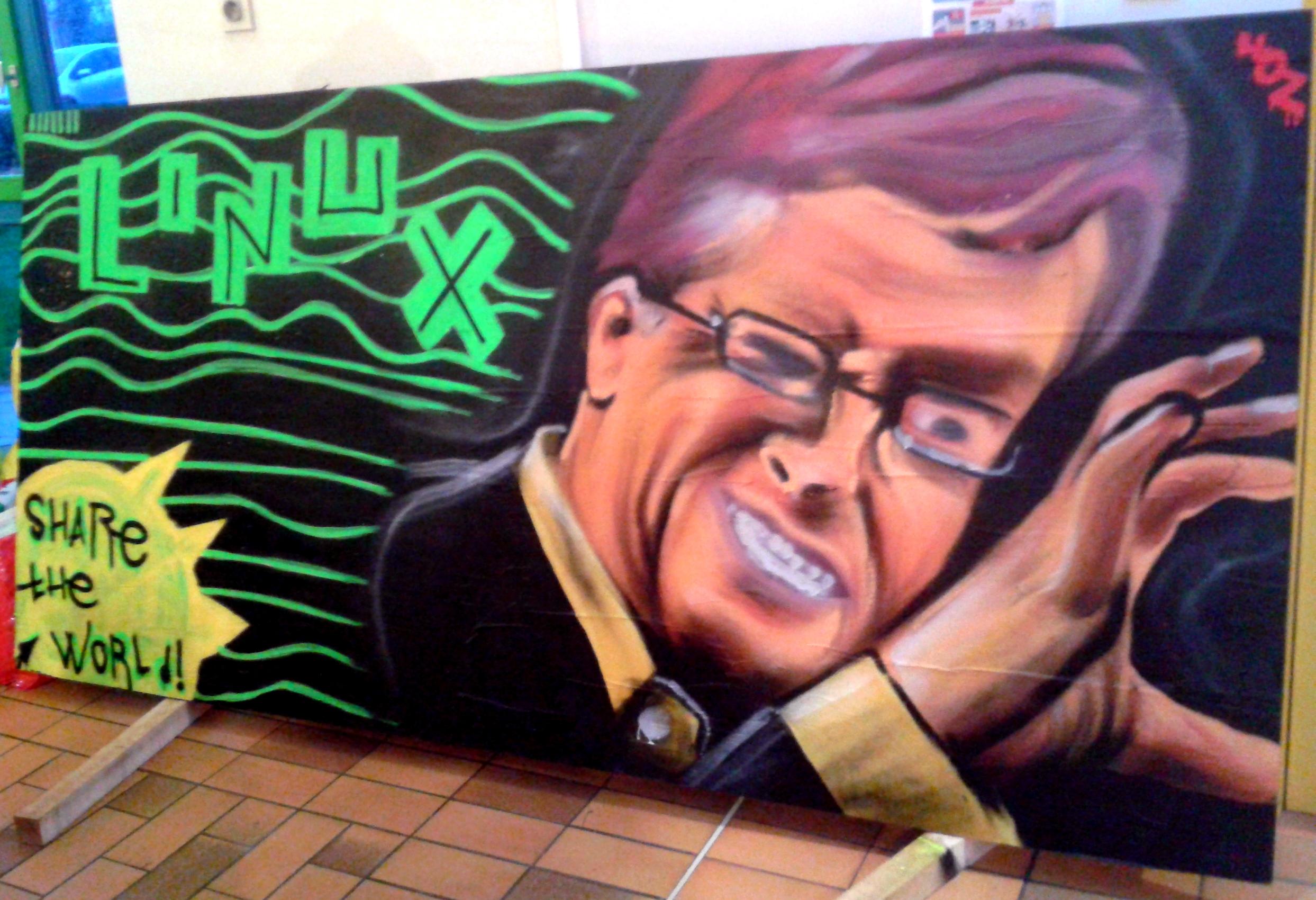 Graffiti et Linux party à Gouesnach