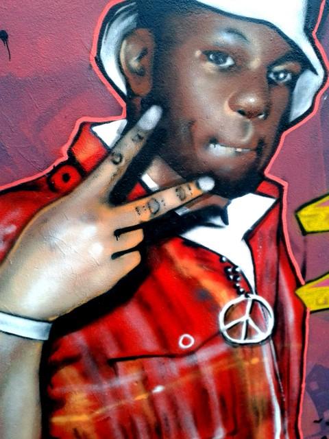 Portrait graffiti de 88-Keys
