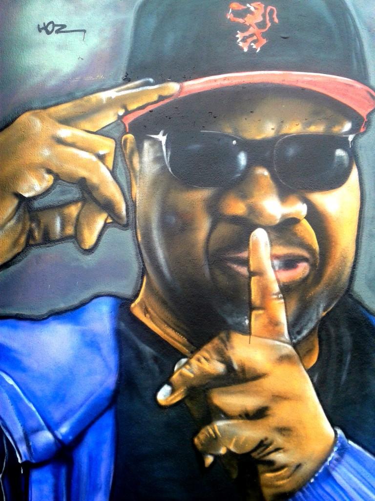 Graffiti hommage à Papa Wemba