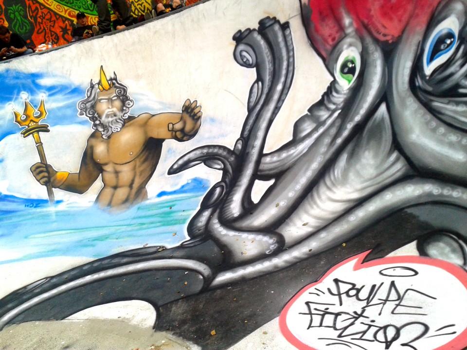 Fresque Graffiti Pout LaRueSkate à Douarnenez