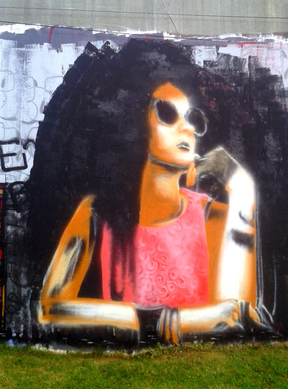 Portrait Graffiti Par HOZ à Quimper