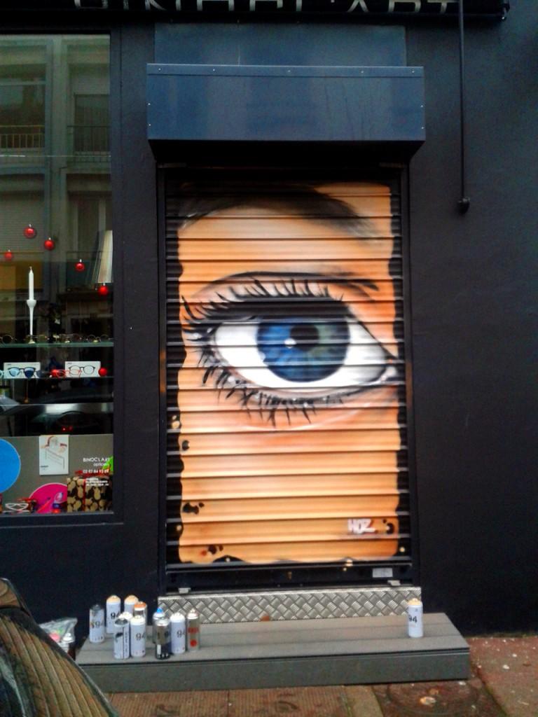 Devanture «Binocl'Art» à Lorient