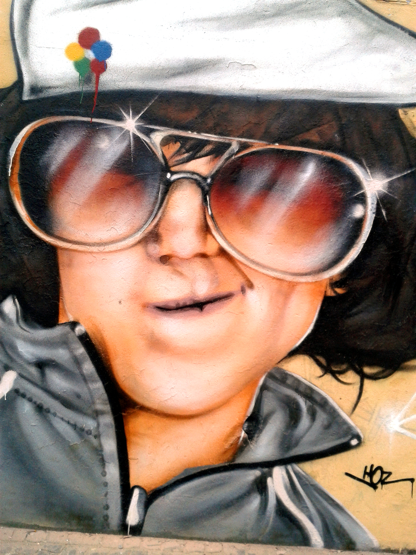Portrait Graffiti Par HOZ