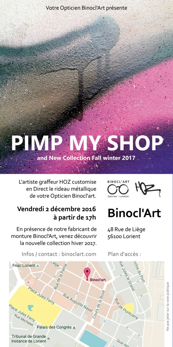 Binocl'art Lorient décoration graffiti