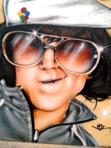 Fresque prismes et portraits graffiti à Quimper