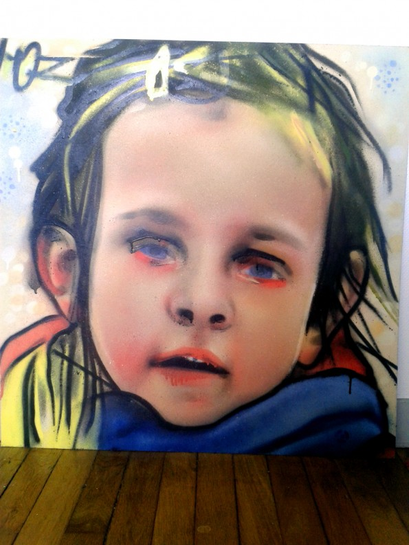 Portrait graffiti de Juliette