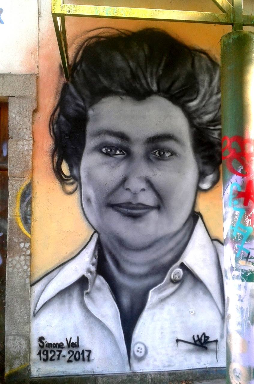 Portrait graffiti Hommage à Simone Veil