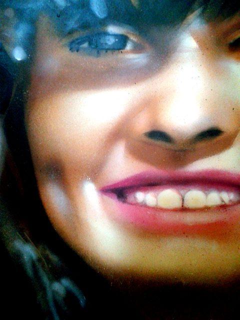Portrait aérosol sur toile (8) : Maëlwenn