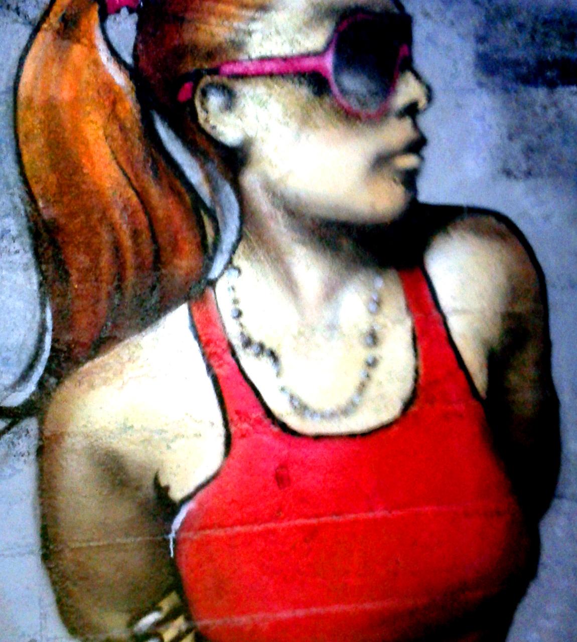 Portrait Graffiti Par HOZ à Rennes. Nov 2017