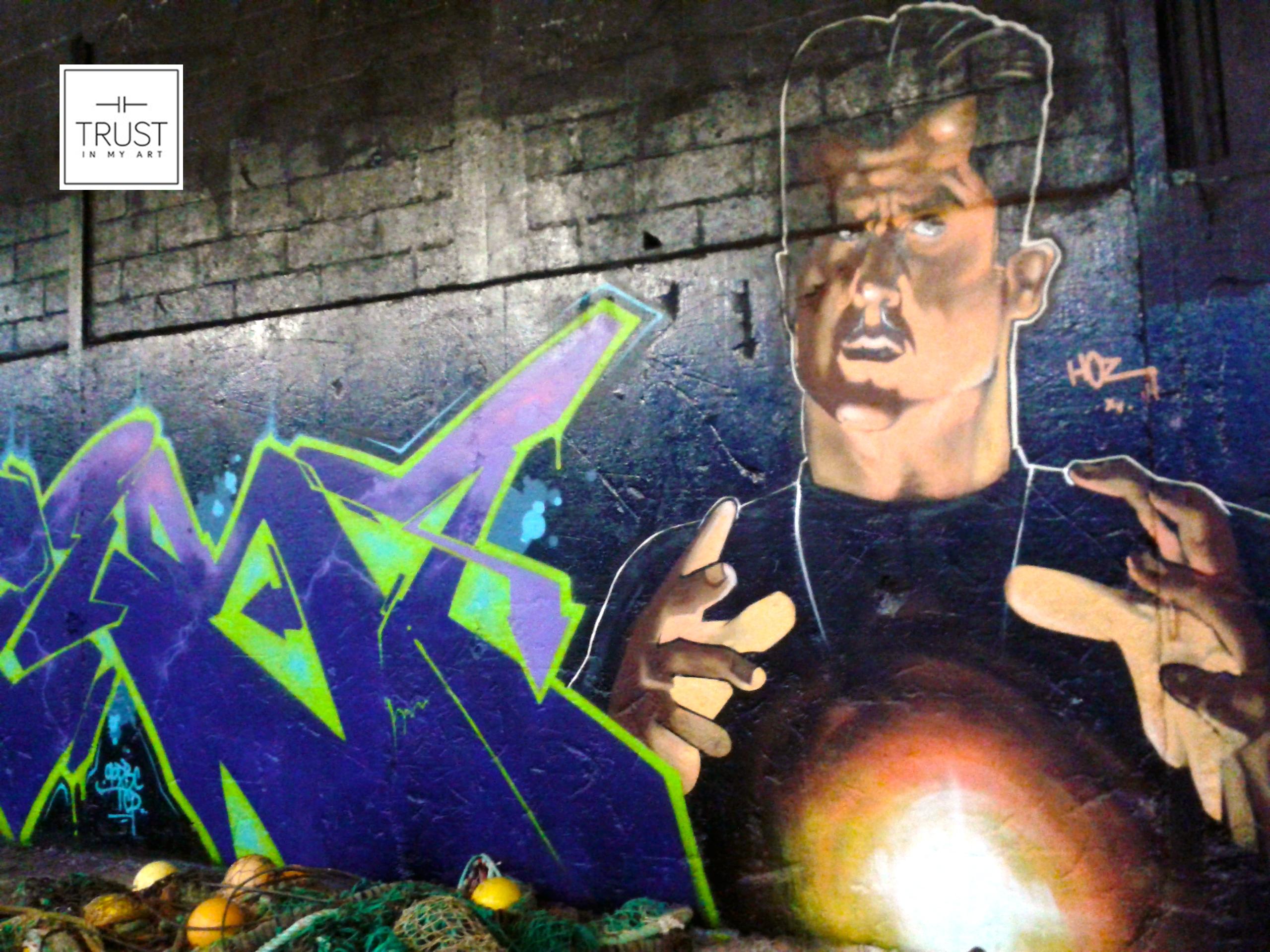 Session graffiti à Saint-Brieuc avec IOYE et AVERI